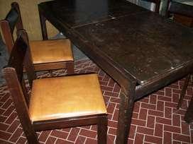 juego de comedor mesa sillas