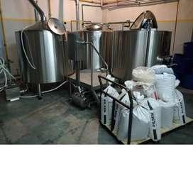 Planta Fabrica Cerveza completa funcionando (coccion, fermentador, barril, agitador, chiller)
