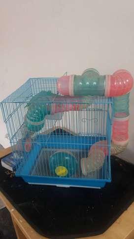 jaula de hamsters