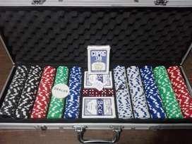 Maletín con 500 fichas de Póquer