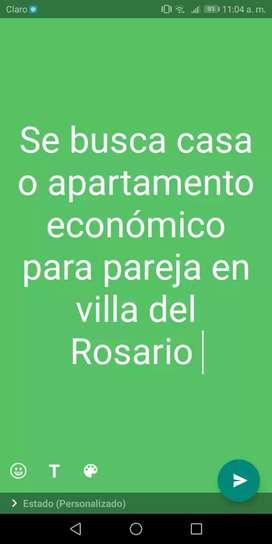 Se BUSCA apartamento economico para pareja en villa del Rosario