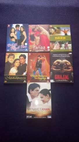 7 Dvds. películas originales Hindú