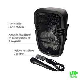 Parlante Bluetooth 8 pulgadas Cabina con Micrófono