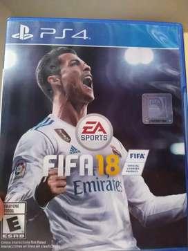 Se vende FIFA 18 para Ps4