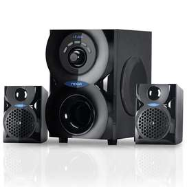 HOME THEATER 2.1 NOGA SPARK FM USB BLUETOOTH 20W INALAMBRICO