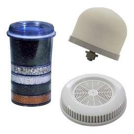 Kit De 3 Repuestos Para Filtro Purificador De Agua 14 Litros