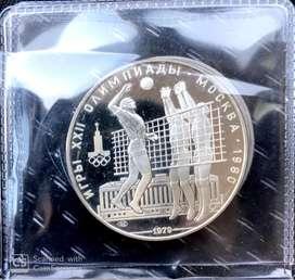 Moneda Rusa 10 rublos en Plata, juegos olimplicos 1980