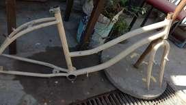 Cuadro de bicicleta de mujer rodado 26