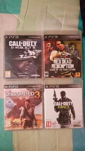 Vendo juegos originales para PS3