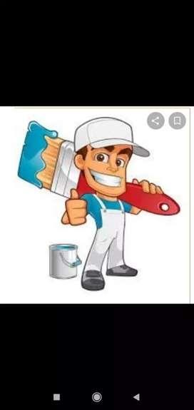 Buscó trabajo en la pintura de casas y gymsum