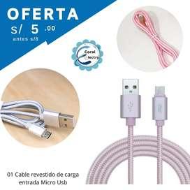 CABLE USB PARA CELULARES ANDROID APPLE CONECTOR C Y CONECTOR  B