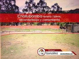 Vendo Terreno Chaullabamba con Alcantarillado y Cerramiento