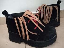 Zapatos Plataforma Gamuza