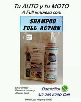 Shampoo Full Action  para autos y motos