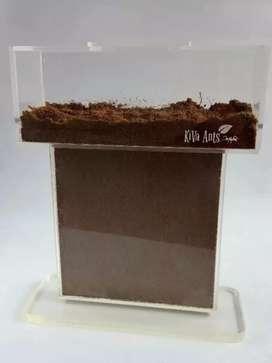 Hormiguero marca kiva ants incluye arena, antifugas y alimento