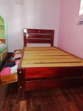 Vendo cama sencilla con cajones y colchoneta