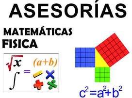 Clases particulares de física y matemáticas 6 la hora