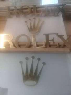 letras o emblemas de marca rolex