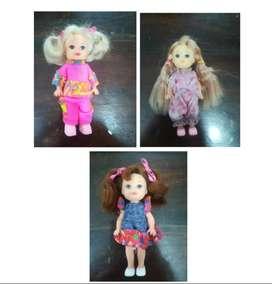 Vendo trío de hermosas Muñequitas hijas o hermanas de la barbie
