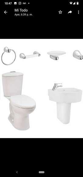 Juego de baño completo incluye griferia