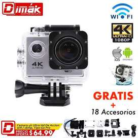 Camara 4k wifi De Acción /wifi /16mp, Tipo Go Pro Hero 5