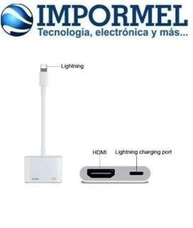 Adaptador De Video Lightning A Hdmi iPhone iPad iPod