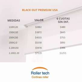 CORTINAS ROLLER TECH. BLACK OUT PREMIUM USA.
