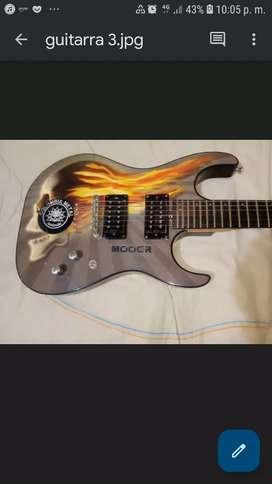 Guitarra washburn fleming skull x series