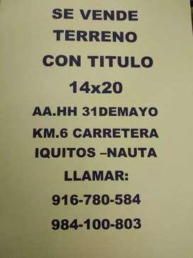 TERRENO CON TITULO 14X20