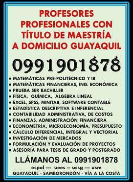PROFESIONALES CON MAESTRÍA DICTAN CLASES DE MATEMÁTICAS A DOMICILIO