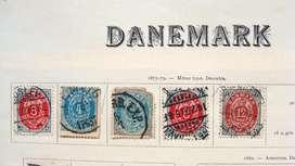 Sellos postales de Dinamarca 1875 – 1902