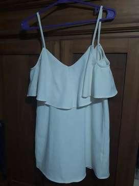 Vestido blanco talle único