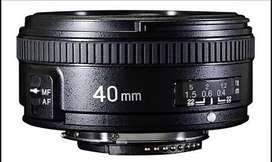 Lente yongnuo 40 mm 2.8.  Nikon
