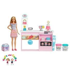 Nuevo Original Barbie y su cocina para decorar pasteles