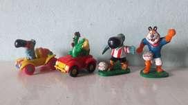 Art 172 Art 211 Lote de 4 Juguetes Muñecos de Los Cereales Tigre Autos Futbol