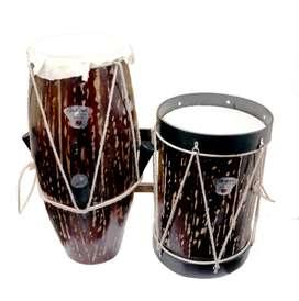 bombo y cununo Tonson Guagua, kit de tambores marca Tonson, tambores del pacifico..