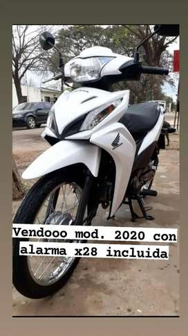 Honda wave 2020 con alarma x28 incluida