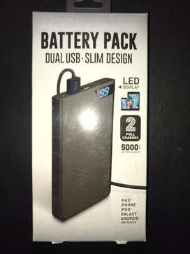 Batería Portátil 2 puertos USB 5000mAh