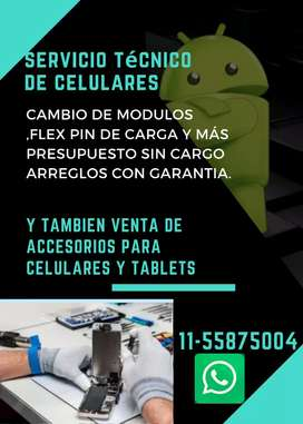 Venta y reparación de celulares