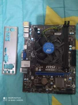 Board MSI H81 para reparar + Procesador Celeron 4ta Generación