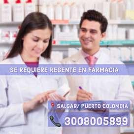Solicitamos Regente en Farmacia y Tecnico en Farmacia