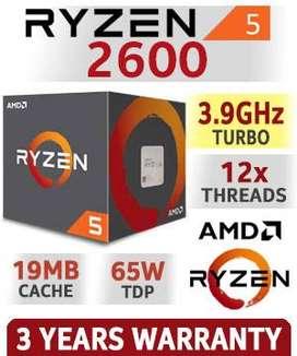 Procesador AMD Ryzen 5 2600 3.7 a 3.9 GHZ Gaming y Multiproceso Grafico 6 nucleos y 12 hilos