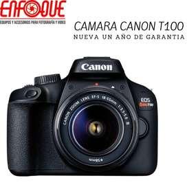 Camara canon t100