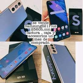 Se vende celular Samsung S21+ como nuevo un mes de comprado.