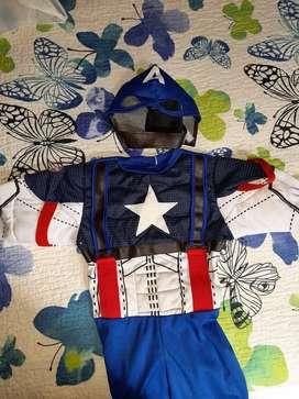 Disfraz Capitán America (4 a 6 años)