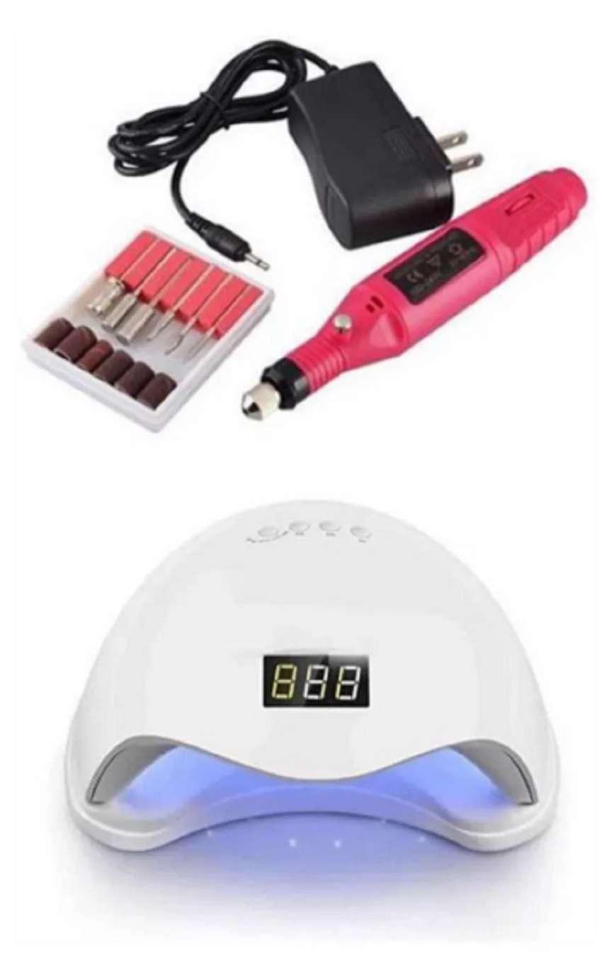 Combo lámpara LED/UV uñas 48 wats +pulidor de uñas