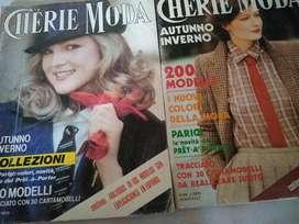 Revista (2) Cherie otoño invierno 1978/9 moldes coleccion