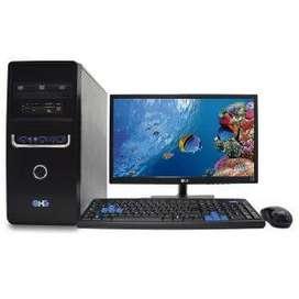 "PC MESA CORE I3 9G 1TB 8RAM monitor 22""  Envio Gratis"