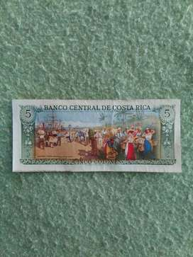 Billete 5 Colones de Costa Rica
