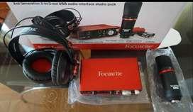 Estudio de grabación Interfaz de audio USB Scarlett 2i2 2nd Generación